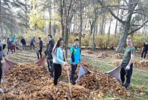 Студенты БГТУ приняли участие в акции «Чистый лес–2019»