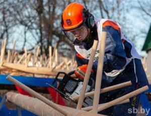 В Полоцке прошел Международный конкурс профессионального мастерства «Лесоруб-2019»