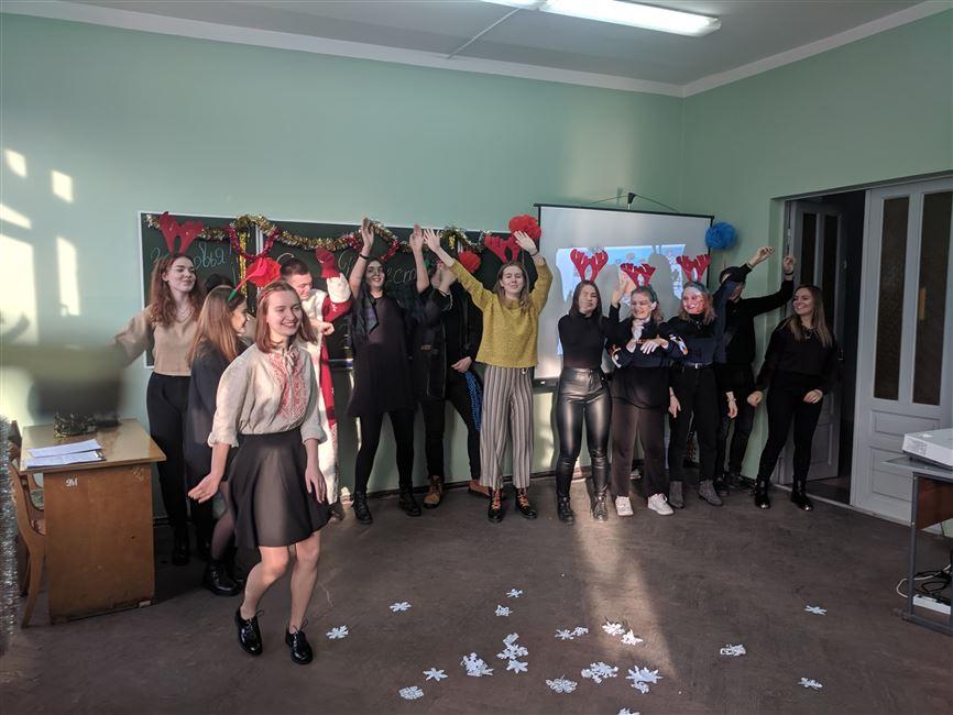 Объединенный урок русского языка, посвященный празднованию Рождества и Нового года